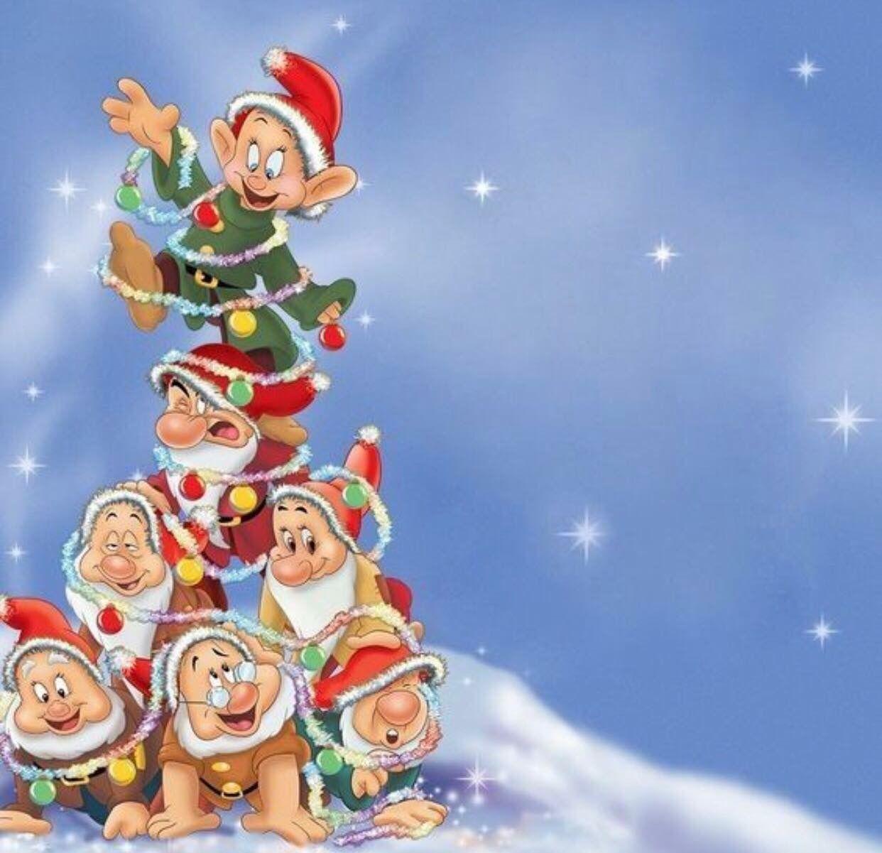 7 Dwarfs Christmas Tree Disney Christmas Christmas Cartoons Christmas Wallpaper