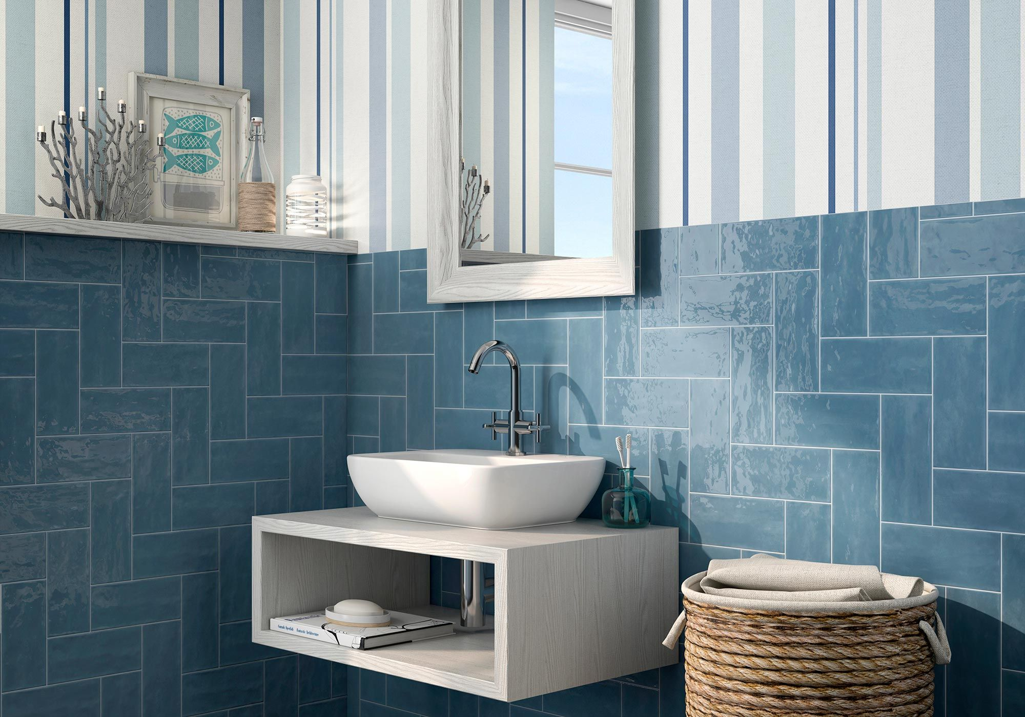 Image result for Canvas Maiolica Bungalow Blue Wall Tile | Mi casa ...