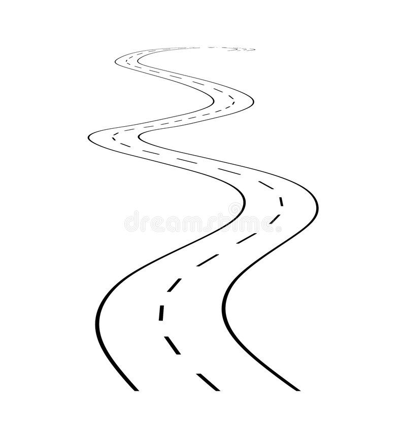 Road With Turn 1 Schematical Road With Turn On A White Background With A Markin Sponsored Schematical Road Turn Ba Illustration Artwork Stock Photos