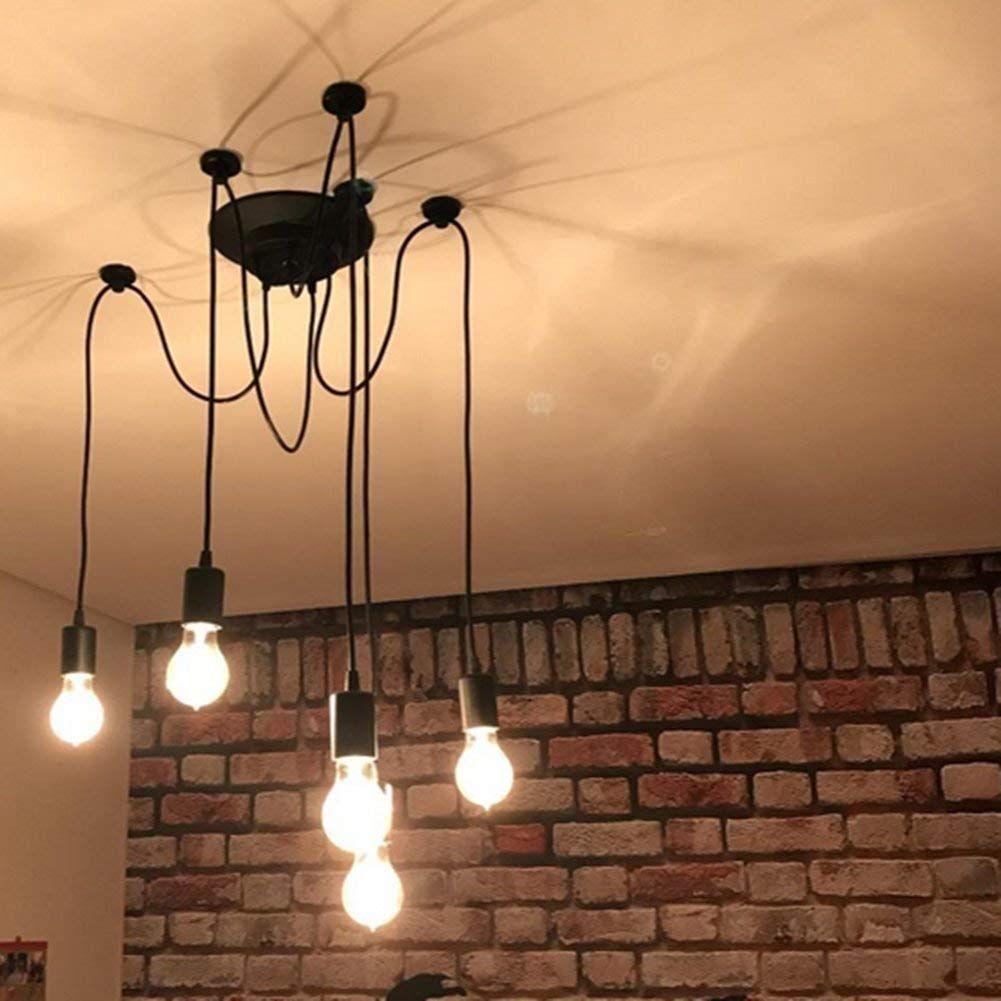 E27 Creative Edison Kronleuchter Antique Diy Kronleuchter 5 Kopfe Lampen Vintage Industrial Deckenleuchte Pe Edison Kronleuchter Kronleuchter Beleuchtung Decke