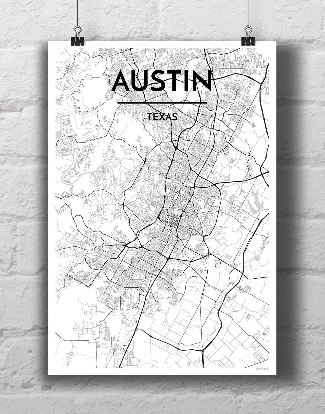 Austin City Map | Brad | Pinterest | City maps, Walls and Products