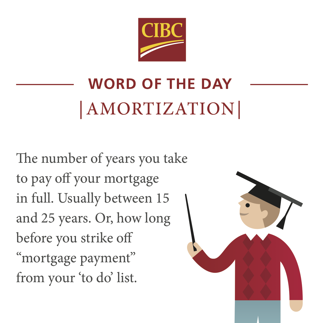 our definition of amortization (and why it matters). #mortgage #cibc
