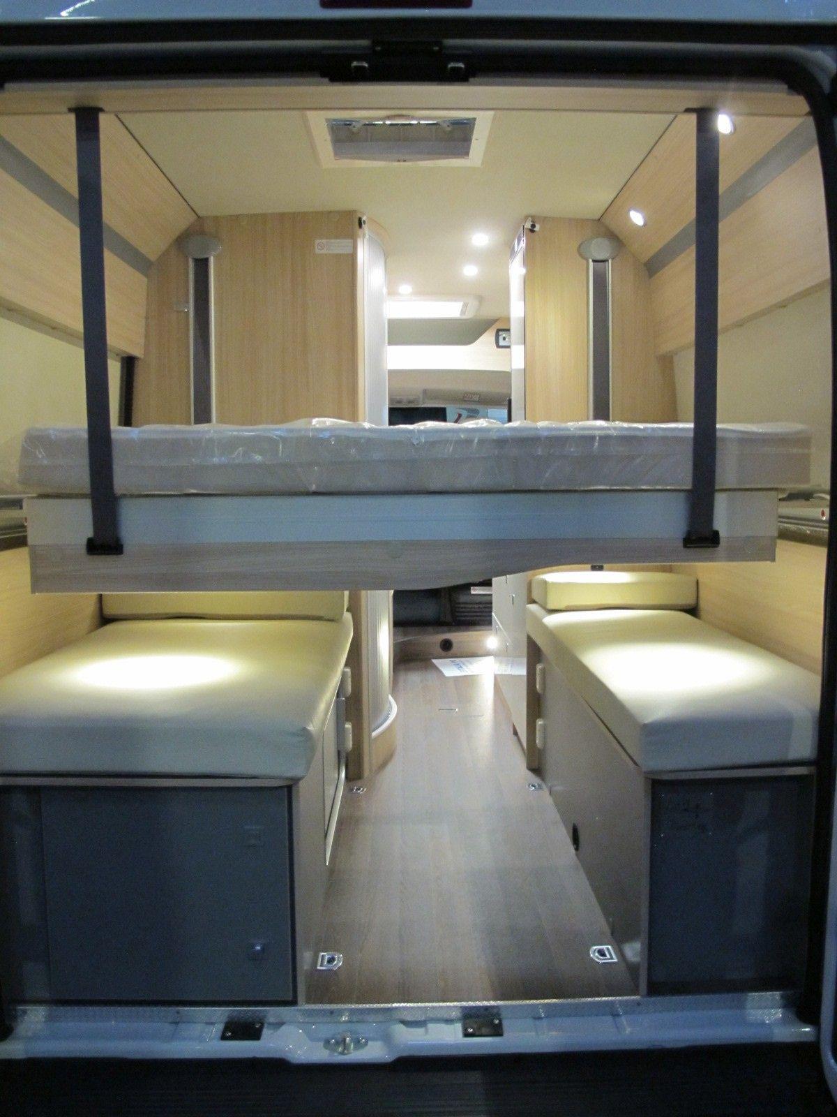 Camper Letto Matrimoniale Posteriore.Burstner Citycar C 601 Camper Furgonato 4 Posti Con Letto
