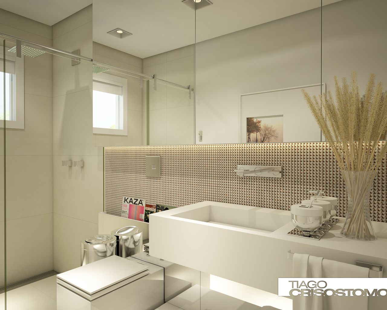 apartamentobanheiros on Pinterest  Shower Niche, Modern Bathrooms and Bathroom -> Pia Banheiro Sketchup