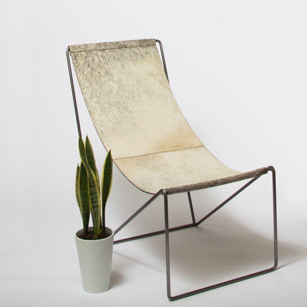 Gentil Cowhide Sling Chair