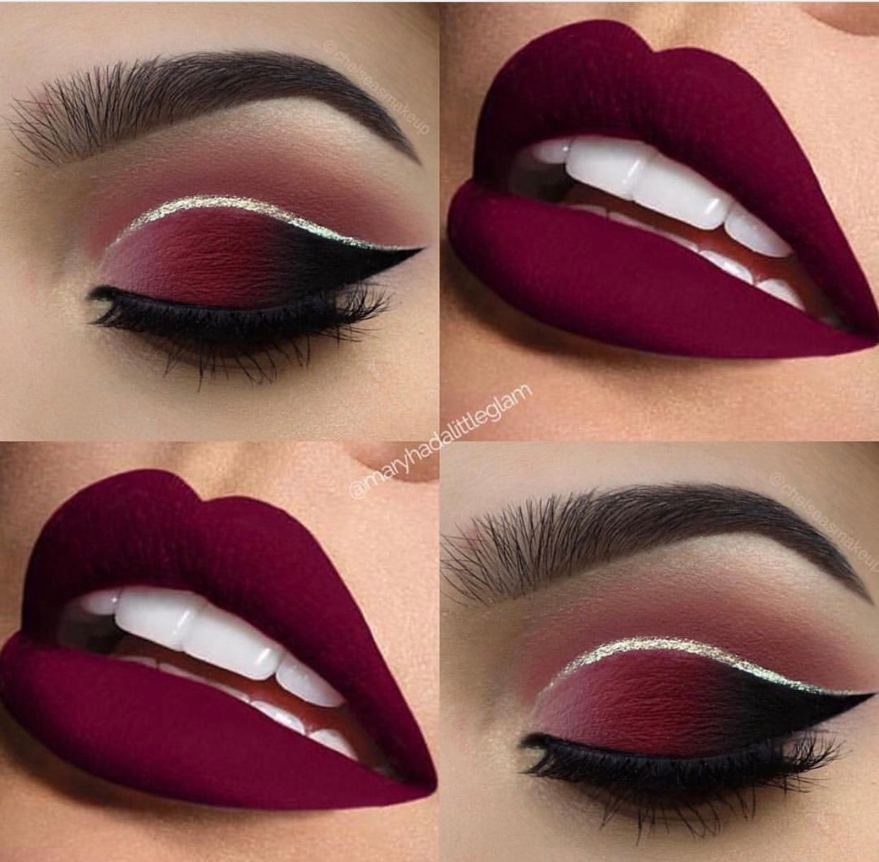Maroon Makeup I Think The Eye Makeup With A Nude Lip