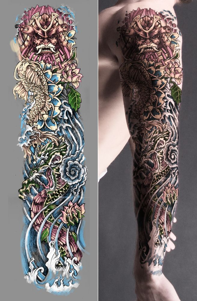 Japanese Style Sleeve Tattoo Creative Commons Attribution