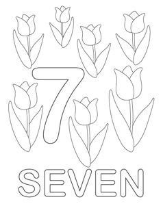 Number Coloring Pages 7 I Do Want To Keep It Language Neutral So