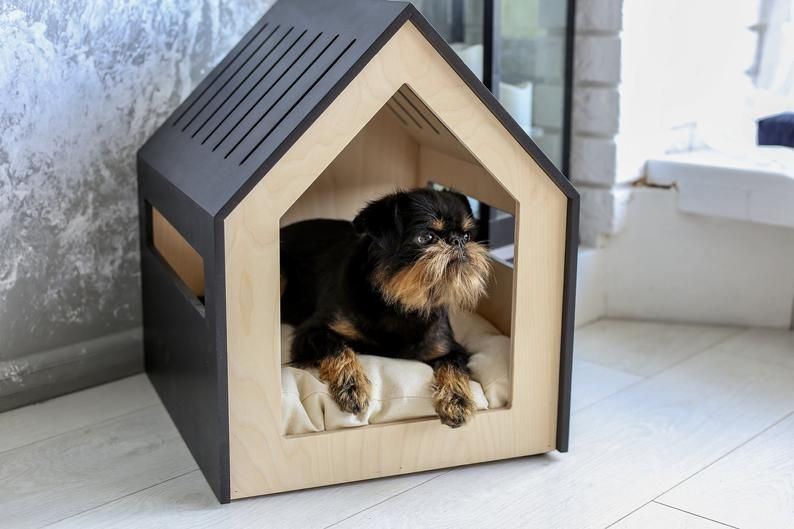 Modern Dog And Cat House Dog Bed Cat Bed Wooden Pet House Modern