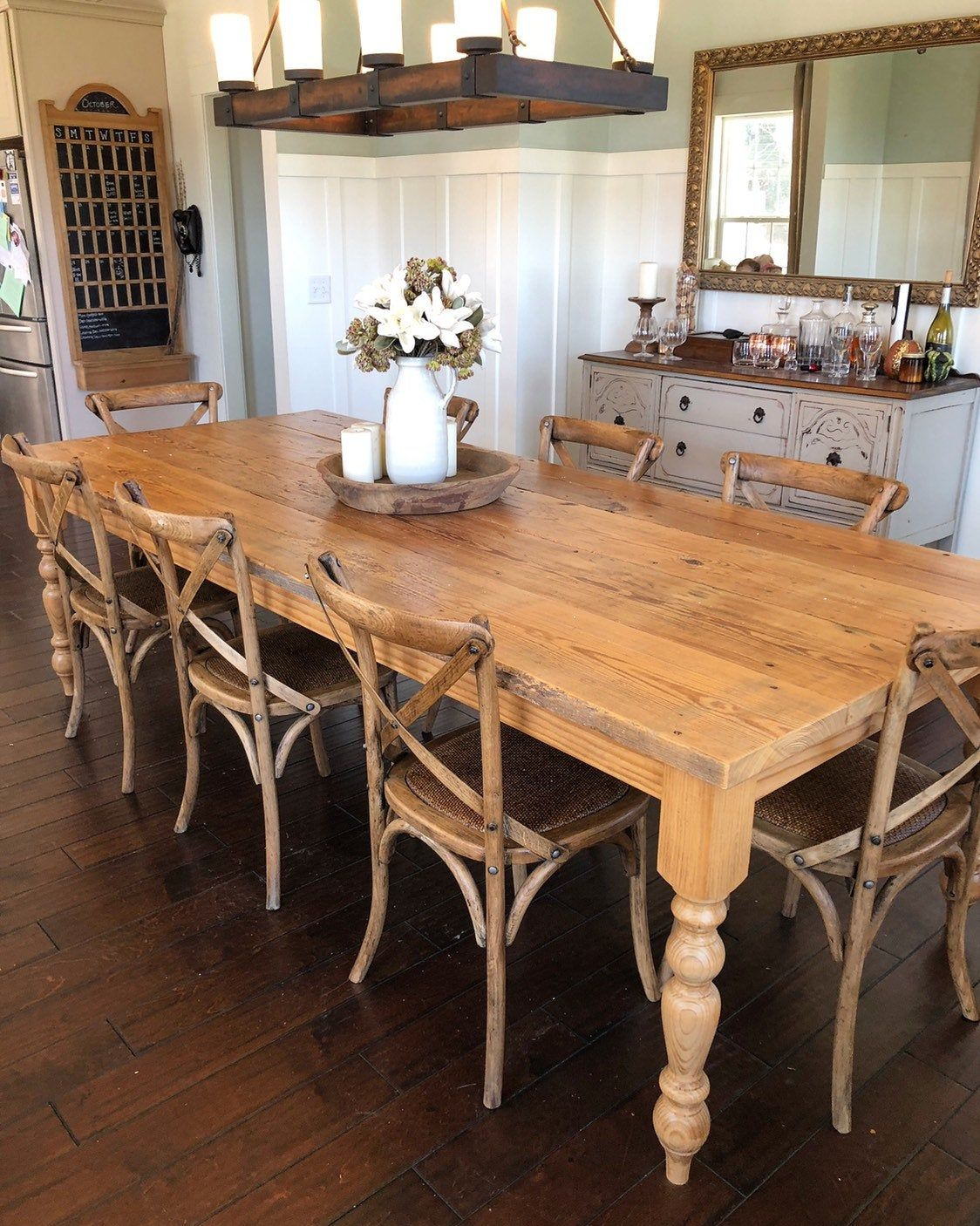 Distressed Reclaimed Farmhouse Dining Table Etsy Farmhouse Dining Room Table Kitchen Dining Room Dining Room Table