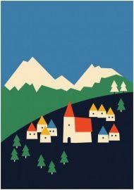 Postcard illustrated by Anna Kövecses : shop @petitelouise   #papieratelier #flavlive #postcard