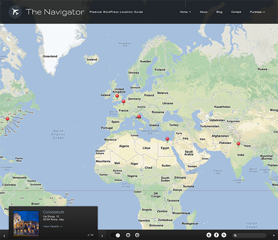 This WordPress Travel Theme Offers Advanced Google Maps Integration - Google maps themes