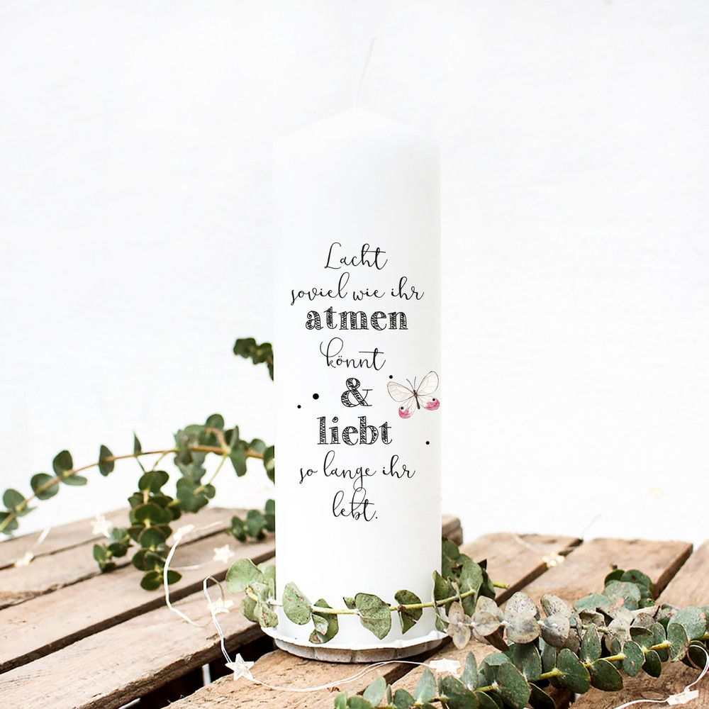 Kerzen Kerze Zur Hochzeit Hochzeitskerze Spruch Wk28 Ein
