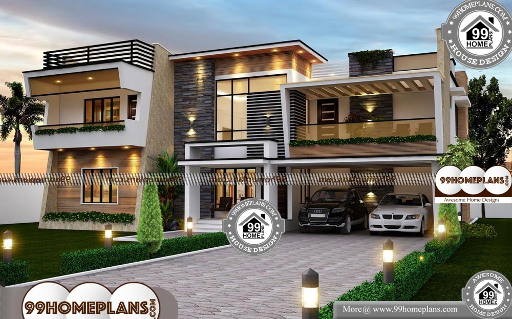 House Plans 4 Bedroom with Very Cute and Stylish Two Floor ...