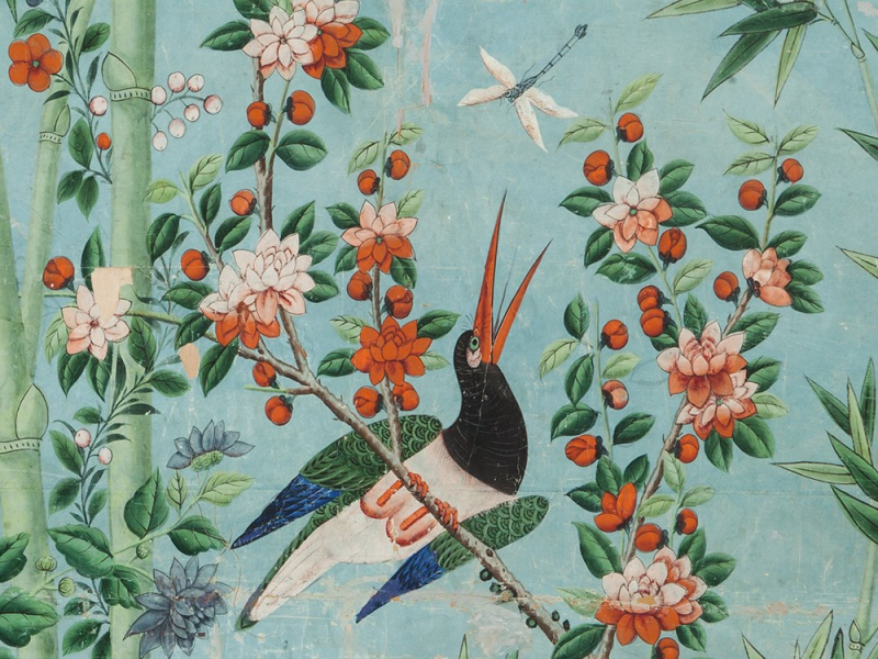 Another detail from Chinese 18th C. wallpaper