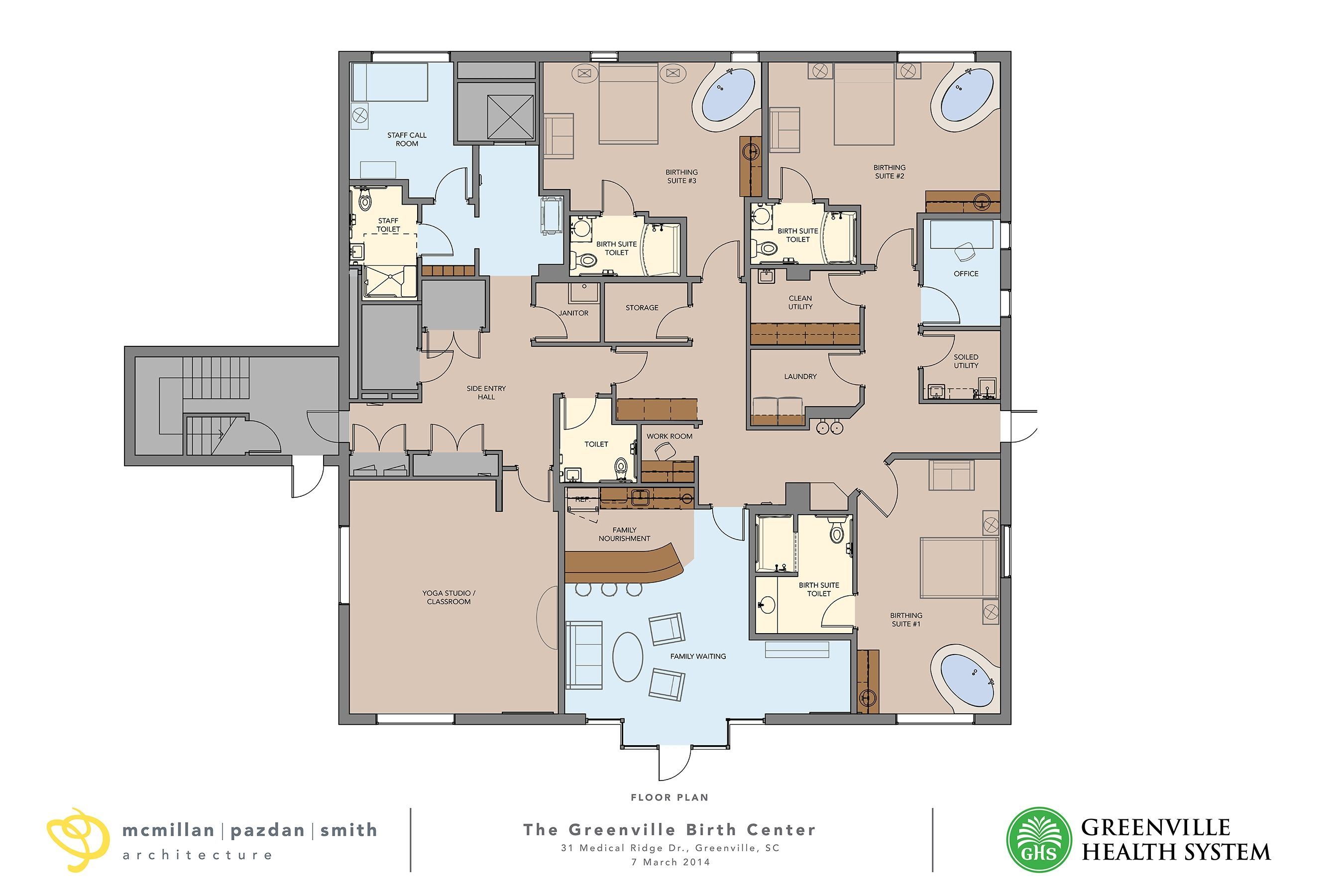 My Birth Center Plans Made Into Reality By The Architect Birth Center House Floor Plans Architect