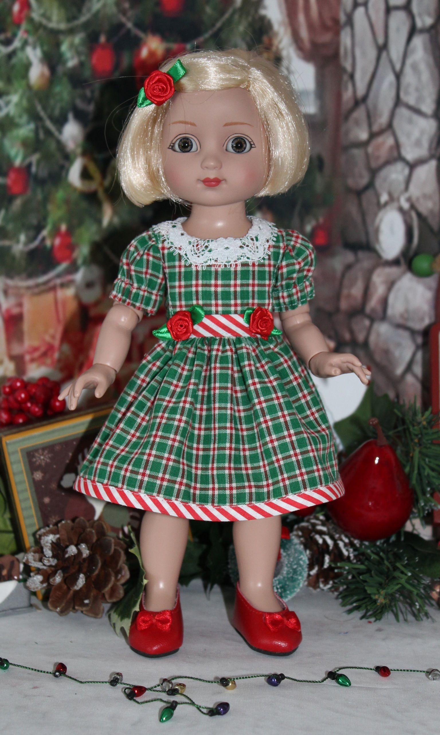 "Charming Christmas Plaid fits 10"" Tonner Ann Estelle/Patsy"
