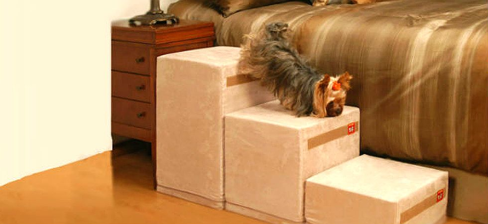 Puppy Stairs Deluxe Foam Pet Ramps Steps Best Dog