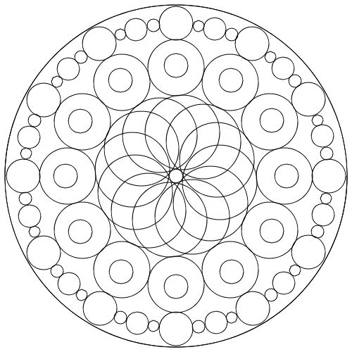 Malvorlagen Ausmalbilder Kreis Mandala | Kreis Mandala ausmalen ...
