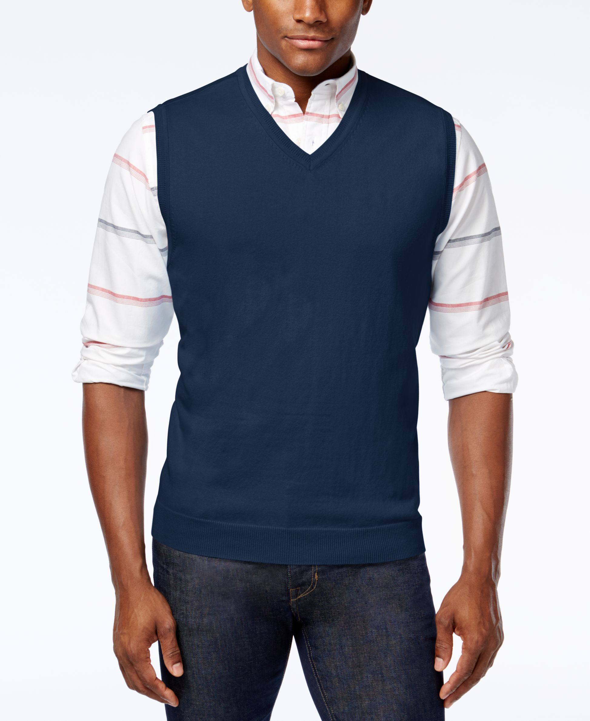 Club Room Men's Cotton Sweater Vest, Only at Macy's | Products ...