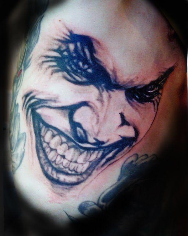 Laughing Joker Face Tattoo Design Tattoobite Com Laughing Tattoo