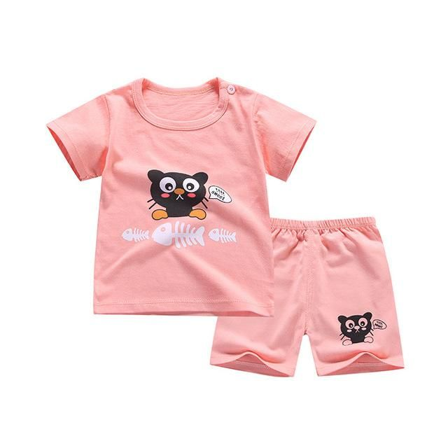 63811234c8d5 Cartoon Baby Boy Clothing Set Summer 2018 New Style Infant Clothes Baby  Girls Clothing Cotton Short