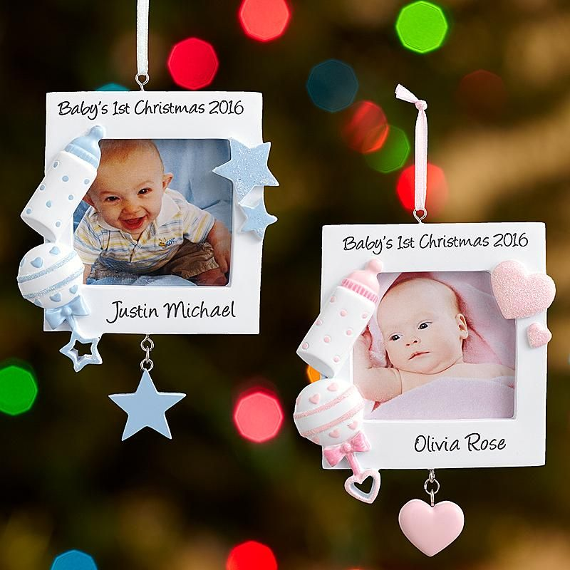 Baby's 1st Christmas Picture Ornament … | Pinteres…