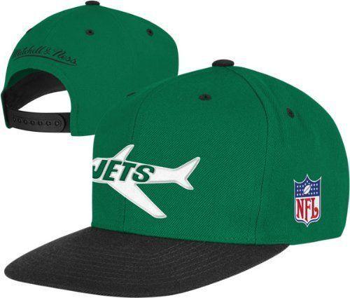 b81f12da9d5 New York Jets MITCHELL & NESS Snapback Cap Mens Vintage Throwback Plane NFL  Size #MitchellNess #NewYorkJets