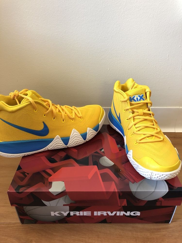 c2c4d3cb2a3368 NEW LIMITED Nike Kyrie 4 Kix Amarillo Yellow Cereal Pack Limited Edition  Size 9