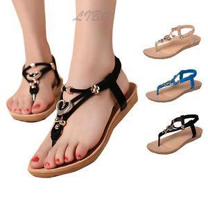 f724961f Mujer Zapato Sandalias Chanclas Verano Playa Tacon Plano ...