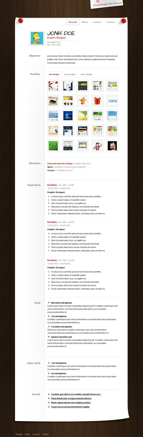 CV templates 10 Amazing Collection Of Free CV Resume Templates - free cv resume templates