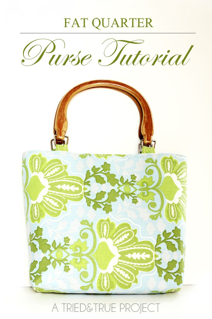 Fat Quarter Purse Tutorial & Pattern | Pinterest | Bolsos, Costura y ...