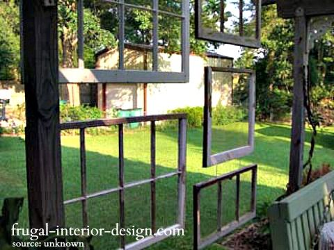 Old window ideas for clever home decor livingroom for Outdoor window frame decor