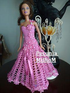 Diy Croche Para Bonecas Barbie Video Tutorial Vestido De Festa