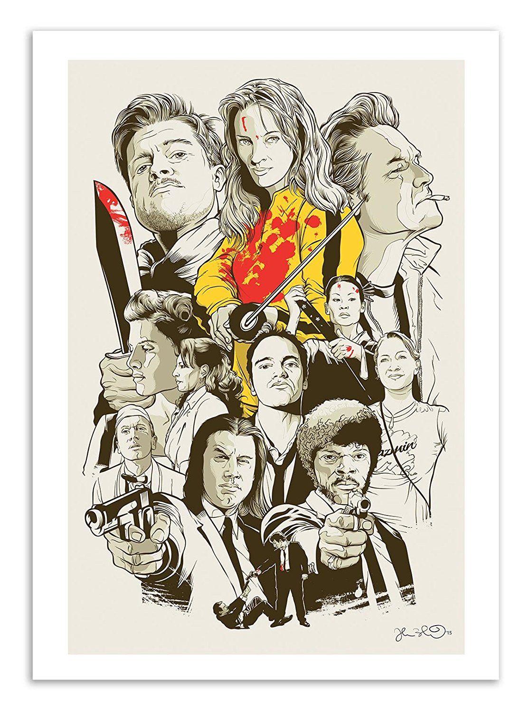 Affiche art 50 x 70 cm tarantino fanart films