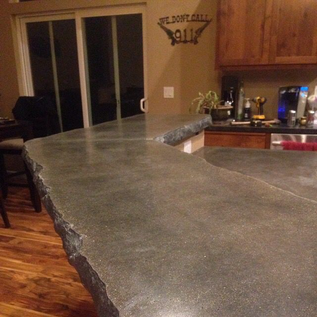 chiseled edge concrete countertop by greg waters