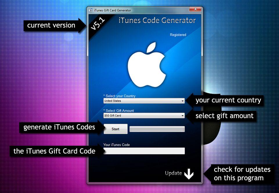 iTunes礼品卡代码生成器 载 iTunes礼品卡代码生成器下载 Gift card generator
