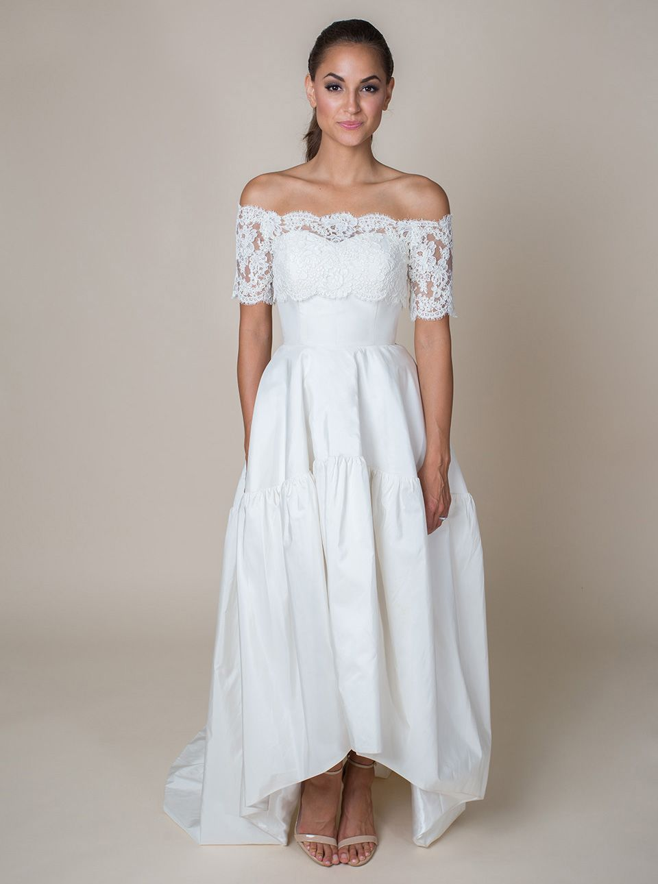 Katrina arnold chloe crop top classic and feminine the chloe katrina arnold chloe crop top classic and feminine the chloe crop top in katie lace worn over the katrina arnold wedding dress is a look that everyone ombrellifo Gallery