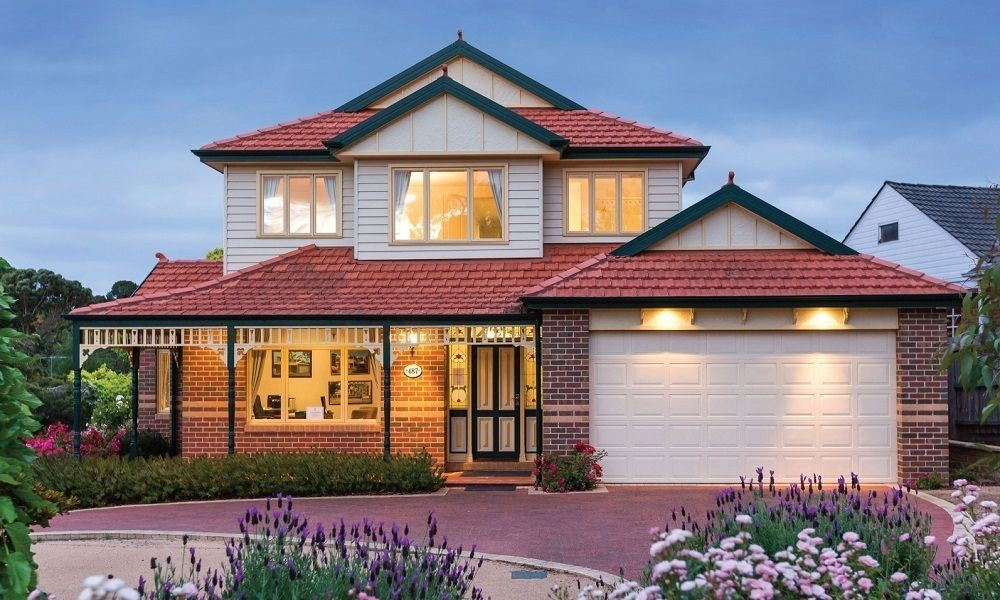 Australian period homes federation for Brick kit homes