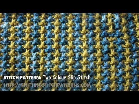 Slip-stitch Knitting: Switch Two Colour - Pattern 2   Labores en ...