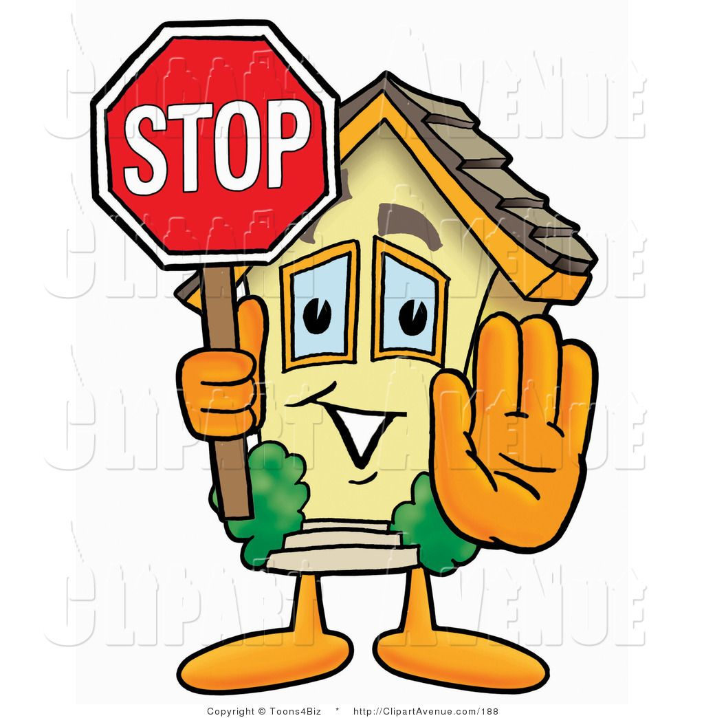 Stop sign Images Clip Art | Avenue Clipart of a Home Mascot ...