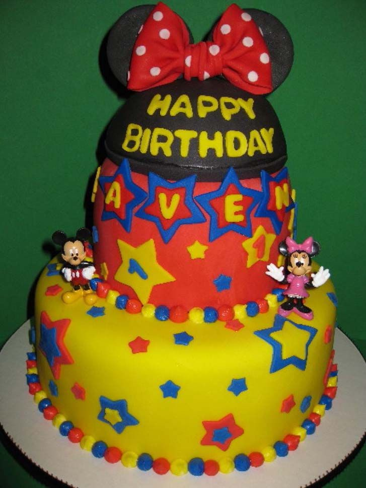 The Mickey Mouse Birthday Cake Design Could Be Your Reference When