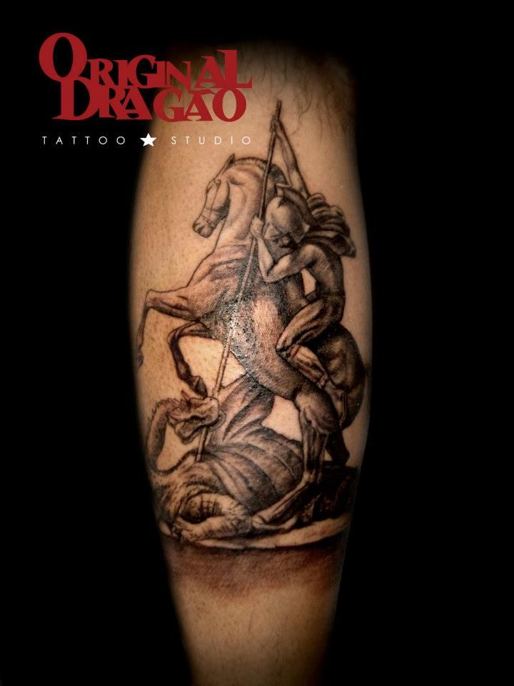 Saint george tattoo religious tattoo original drag o for St george tattoo