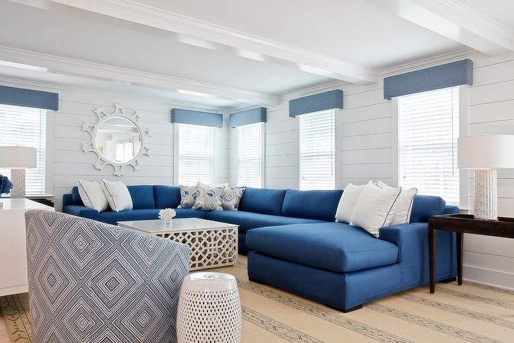 Blue Sectional Couch For Living Rooms Storiestrending Com Blue And White Living Room Blue Living Room Decor Coastal Living Rooms