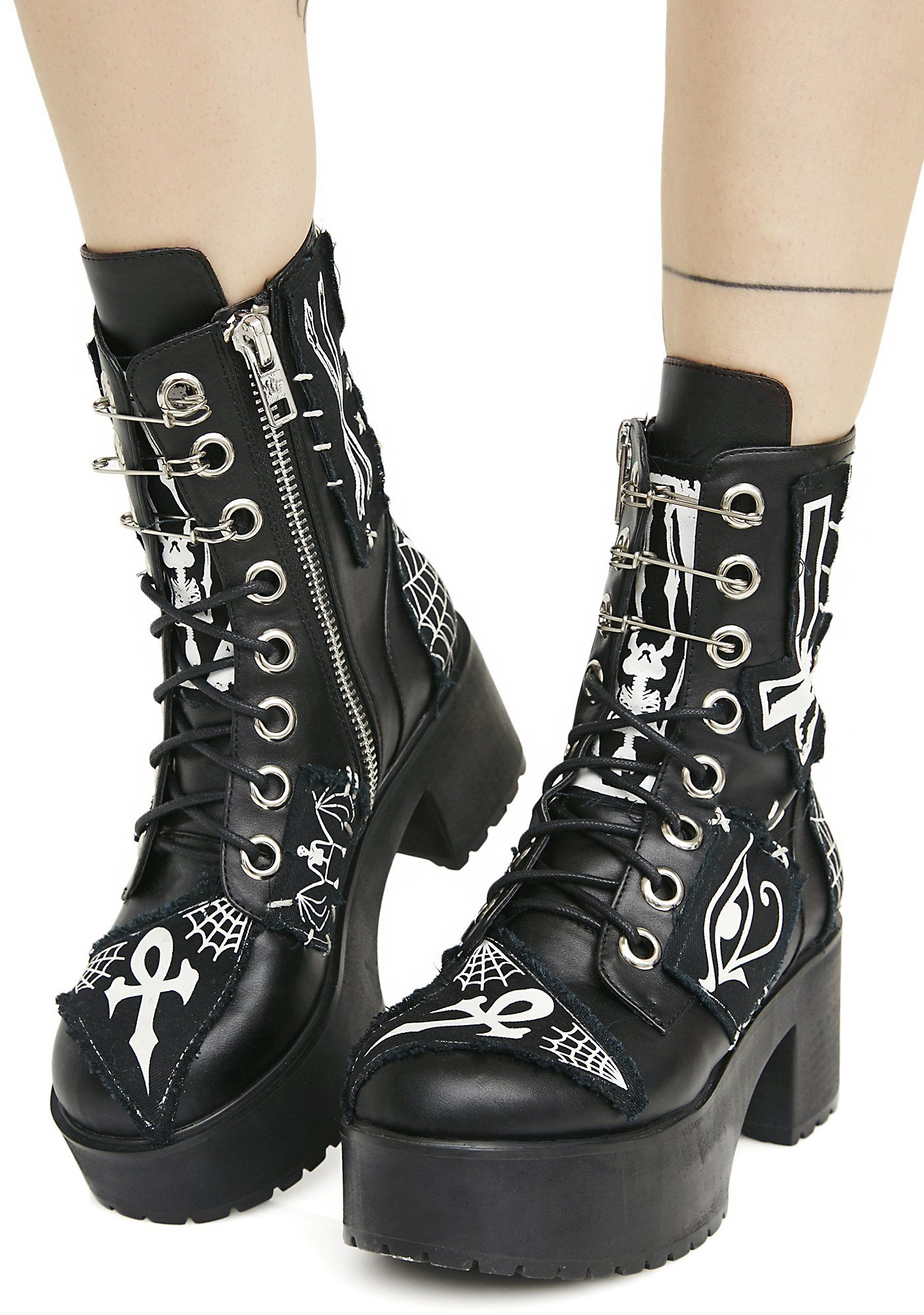 Current Mood Boots Goth boots, Boots, Gothic shoes