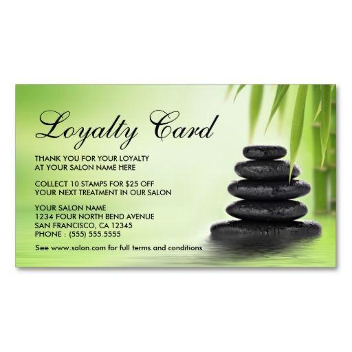Day Spa Or Massage Salon Loyalty Cards