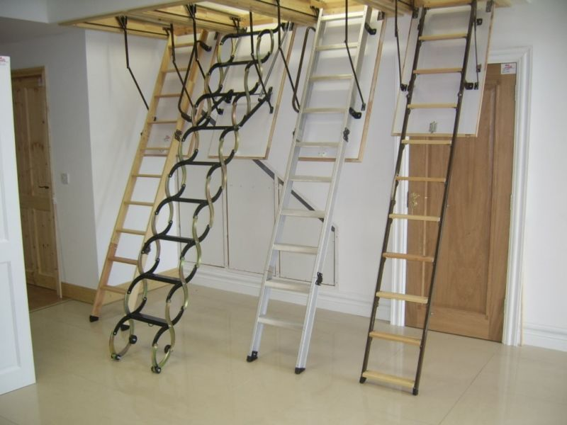 Attic Stairs Maximize The Room With Easy Access Attic Renovation Attic Ladder Attic Stairs