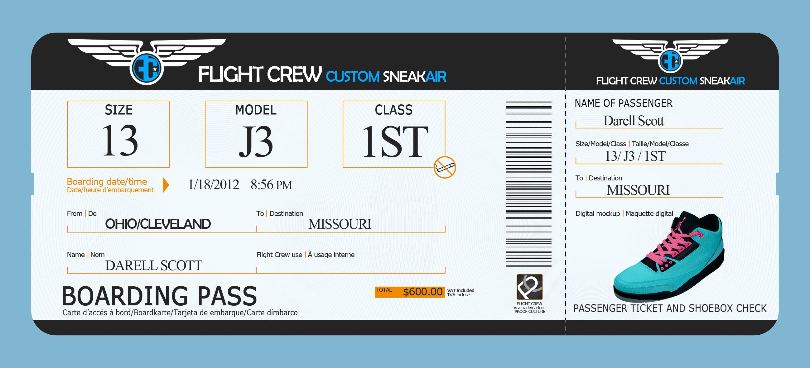 Boarding pass invitation template free