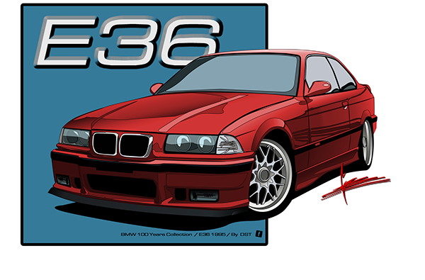 D8 Bmw E36 100 Years Illustrations By Dst On Los Andes Portfolios Bmw E36 Bmw Bmw Wallpapers