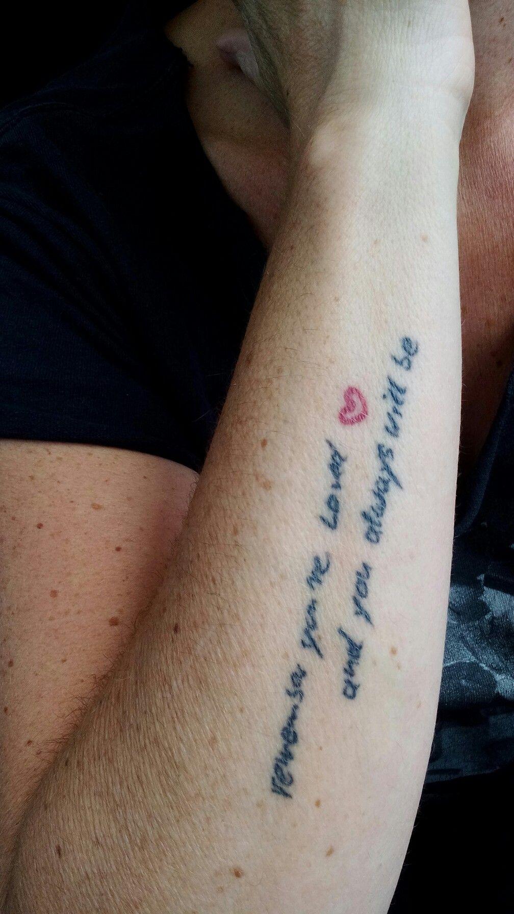 Linkin Park Tattoo The Messenger In Der Handschrift Meines